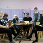 EK Rep's cast of 'Cider with Rosie' in rehearsal