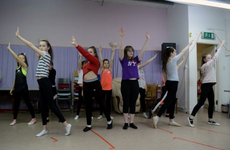 Beauty and the Beast children's cast rehearsing