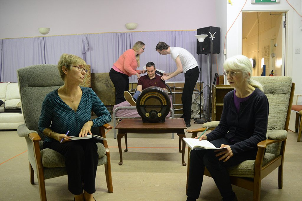 Ladies in Lavender in rehearsal
