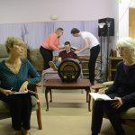Ladies in Lavender in rehearsal